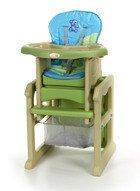 Krzesełko do karmienia 3w1 Zielono-Niebieskie