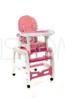Krzesełko do karmienia 5w1 + płozy do bujania + kółka