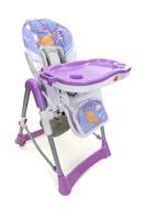 Krzesełko do karmienia Baby Maxi ROZKŁADANE- FIOLETOWE