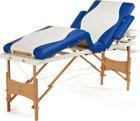 Łóżko do masażu 4 segmentowe dwukolorowe biało - niebieskie