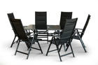 Zestaw mebli ogrodowych aluminiowych 6 krzeseł + stół