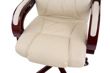 Fotel Prezydent beżowy naturalna skóra z masażem