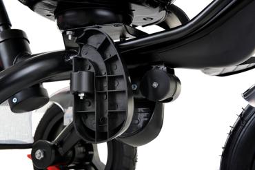 Rowerek trójkołowy z obracanym siedziskiem TROLLEY - szary
