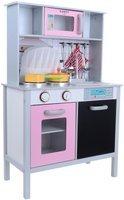 Drewniana Eko Kuchnia z wyposażeniem dla dzieci  FUNFIT KIDS