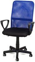 Fotel biurowy wentylowany XENOS JUNIOR niebiesko - czarny