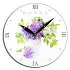 Zegar ścienny Rossa - kwiaty bzu