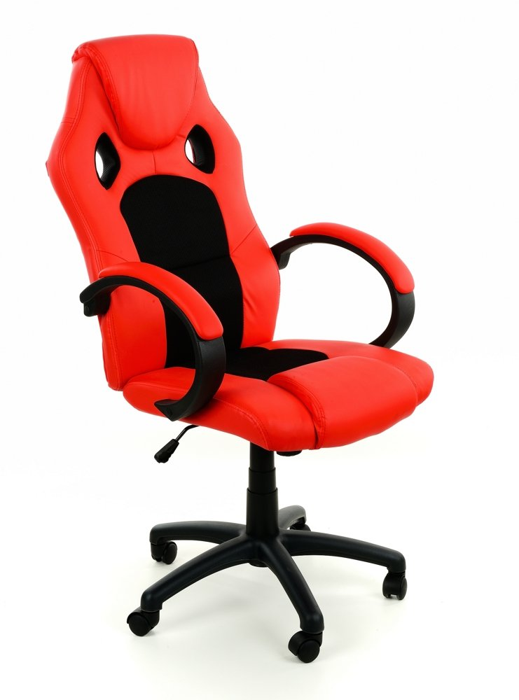 Fotel Biurowy Xracer Pro Czerwono Czarny Czerwono Czarny