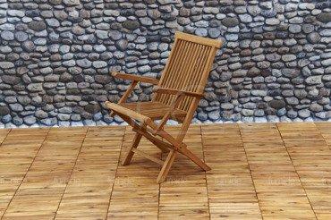 DREWNIANE Krzesło Ogrodowe TEAK