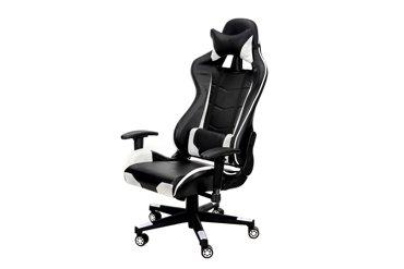 Fotel biurowy GAMER czarno-biały