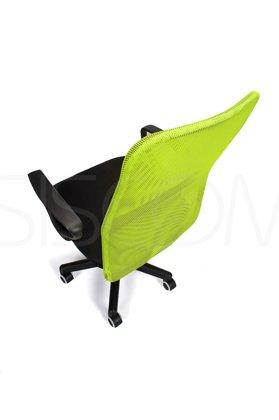Fotel biurowy wentylowany XENOS JUNIOR limonkowo - czarny