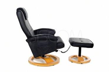 Fotel z masażem + puff z masażem czarny
