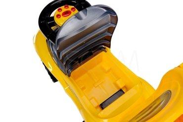 Jeździk, pchacz dla dzieci BabyMaxi - zółty