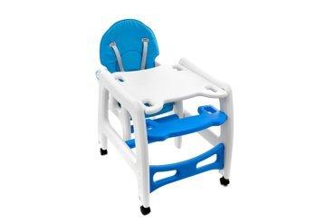 Krzesełko do karmienia 5w1 + stolik BABYMAXI - NIEBIESKIE