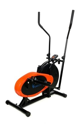 Orbitrek Eliptyczny - pomarańczowo-czarny