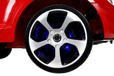 Pojazd elektryczny dla dzieci na licencji VW GOLF GTI czerwony