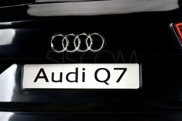 Pojazd elektryczny, na akumulator AUDI Q7  na licencji - CZARNY