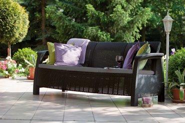 Sofa 3-osobowa CORFU II MAX LOVE brązowy
