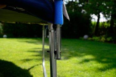 Trampolina ogrodowa dla dzieci 374cm z siatką zewnętrzną i drabinką