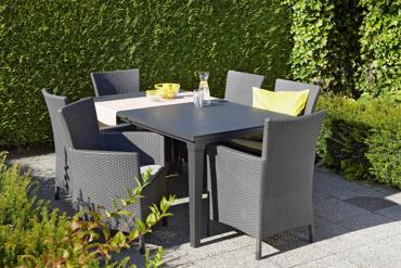 Zestaw mebli ogrodowych Stół FUTURA + 6 Foteli IOWA
